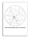 Poster Troyes France Minimalist Map