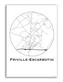 Poster Chambéry France Minimalist Map