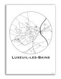 Poster Charleville-Mézières France Minimalist Map