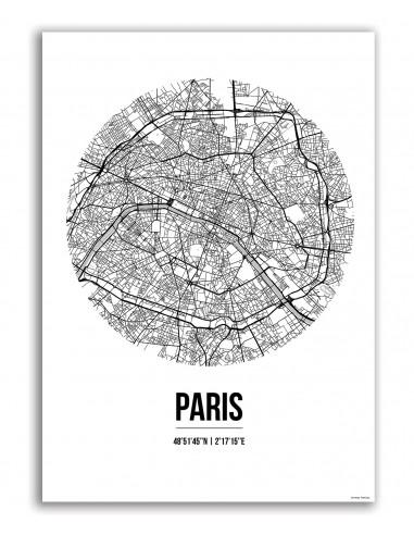 Affiche Poster Ville Street Map