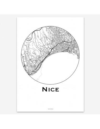 Affiche Poster Nice France Minimalist...
