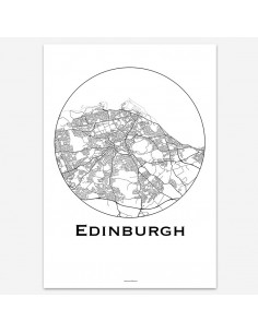 Poster Edinburgh Scotland Minimalist Map