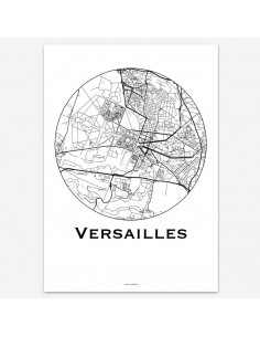 Affiche Poster Versailles France Minimalist Map