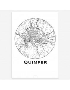Poster Quimper France Minimalist Map