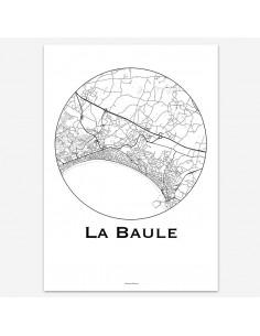 Affiche Poster La Baule France Minimalist Map