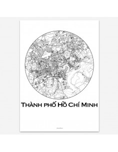 Poster Ho Chi Minh City Vietnam Minimalist Map