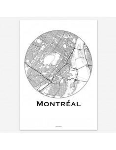 Affiche Poster Montréal Canada Minimalist Map
