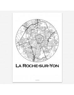 Affiche Poster La Roche-sur-Yon France Minimalist Map