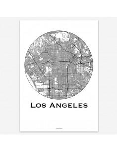 Poster Los Angeles USA Minimalist Map