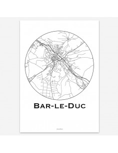 Affiche Poster Bar-le-Duc France Minimalist Map