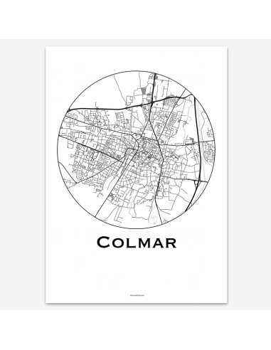 Affiche Poster Colmar France Minimalist Map
