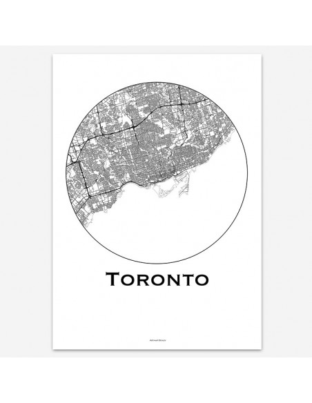 Affiche Poster Toronto Canada Minimalist Map