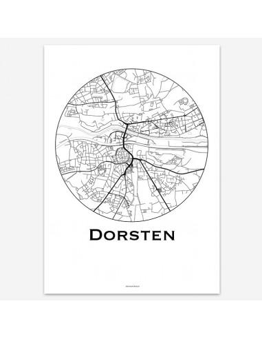 Affiche Poster Dorsten Allemagne Minimalist Map