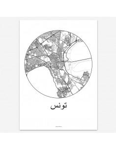Poster Tunis Tunisia Minimalist Map