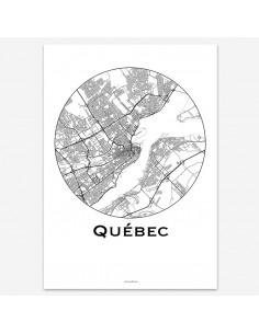 Affiche Poster Québec Canada Minimalist Map