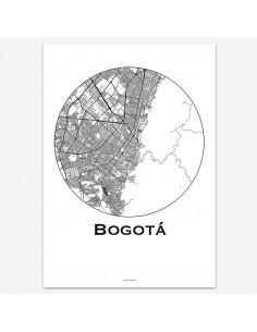 Poster Bogota Colombia Minimalist Map
