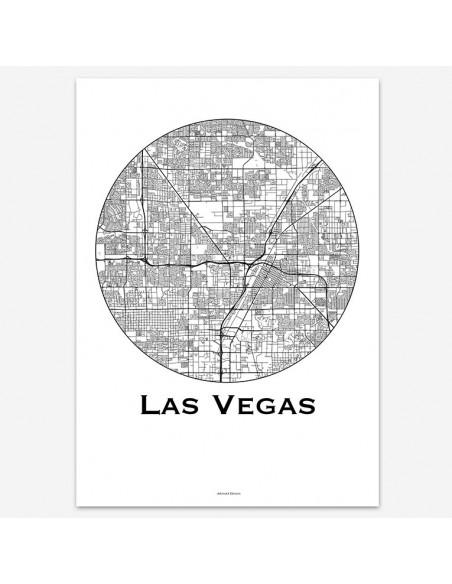 Poster Las Vegas USA Minimalist Map