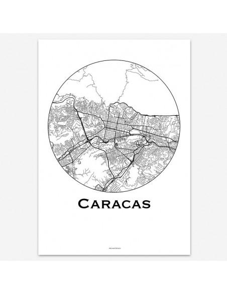 Poster Caracas Venezuela Minimalist Map