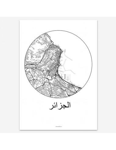 Poster Alger Algeria Minimalist Map