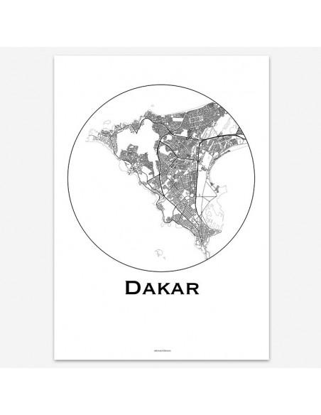 Poster Dakar Senegal Minimalist Map