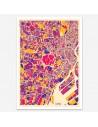 Affiche Poster Tokyo Japon Multicolor Map
