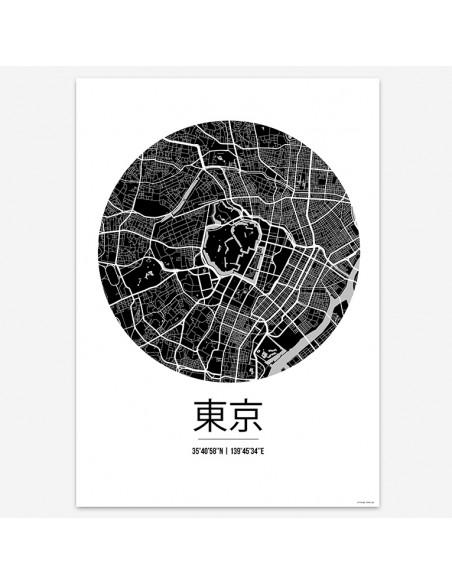 Poster Tokyo Japan Street Map