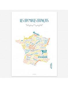 Affiche Les fromages français - Création Originale