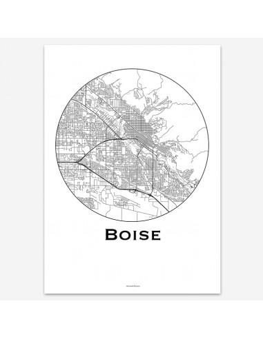 Poster Boise Idaho USA Minimalist Map