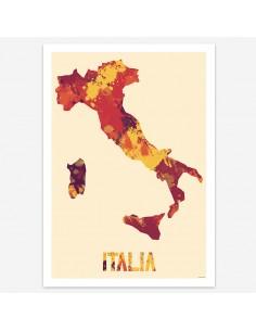 Affiche Italia Style Aquarelle