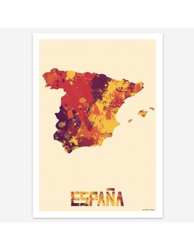 Affiche Espagne Style Aquarelle