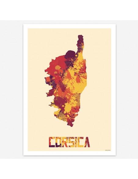 Affiche Corsica Style Aquarelle