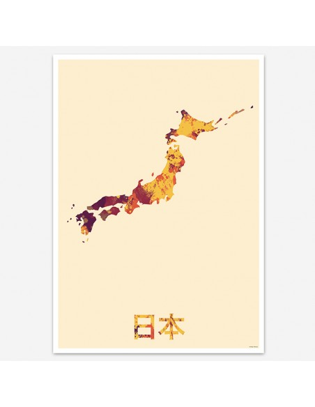 Poster Japan Watercolor