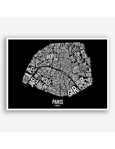 Affiche Poster Quartiers de Paris France