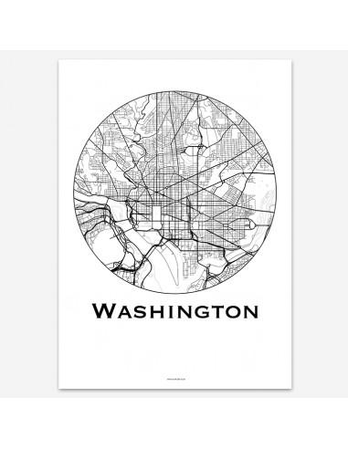 Poster Washington USA Minimalist Map