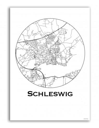 Affiche Poster Schleswig Allemagne Minimalist Map