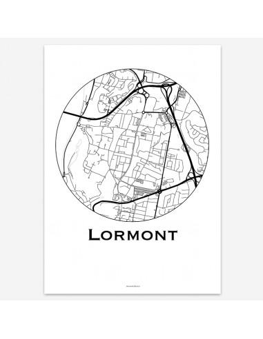 Affiche Poster Lormont France Minimalist Map