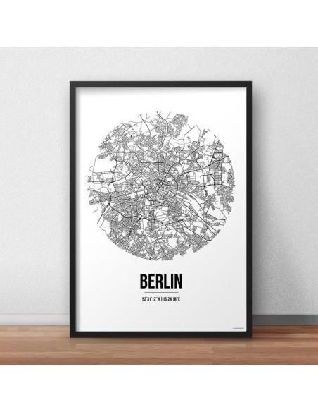 Affiche Poster Berlin Allemagne Street Map