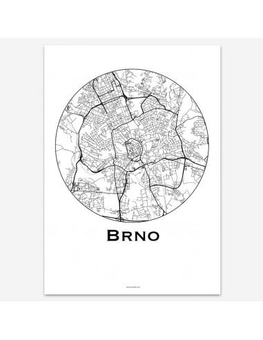 Affiche Poster Brno Rép. tchèque...