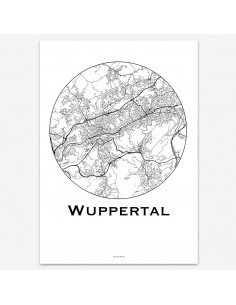 Poster Wuppertal Germany Minimalist Map