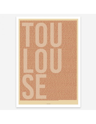 Affiche Poster Toulouse France Street Names
