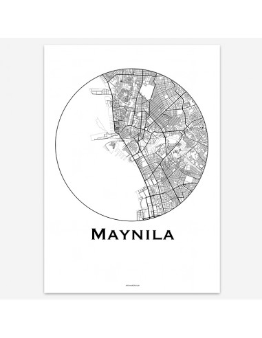 Affiche Poster Manille Philippines Minimalist Map