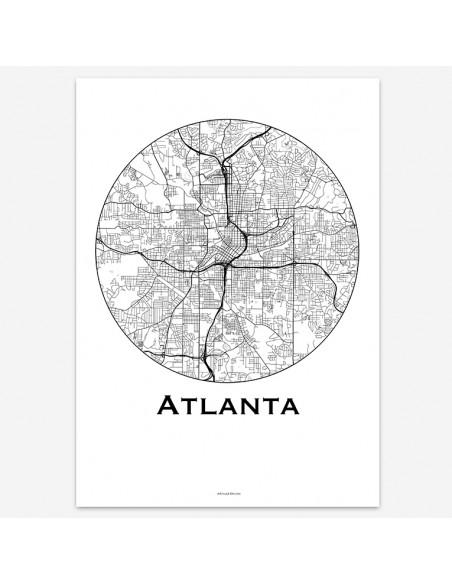 Poster Atlanta USA Minimalist Map
