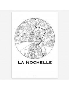 Affiche Poster La Rochelle France Minimalist Map