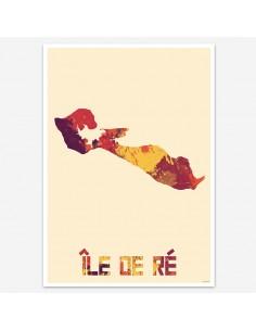 Affiche Île de Ré France Style Aquarelle