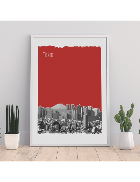 Poster Tokyo Japon Color City