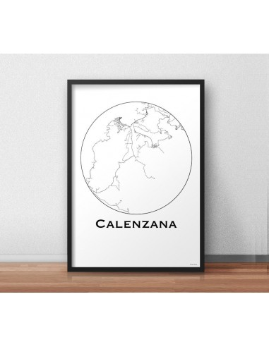 Poster Saint Etienne France Minimalist Map