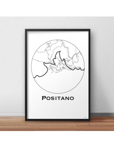 Affiche Florence Italie Minimalist Map