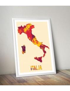 Poster Italia Watercolor
