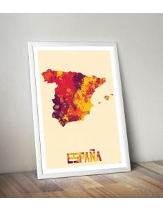 Poster Spain Watercolor