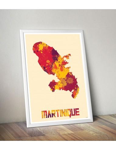 Poster Paris Multicolor Map